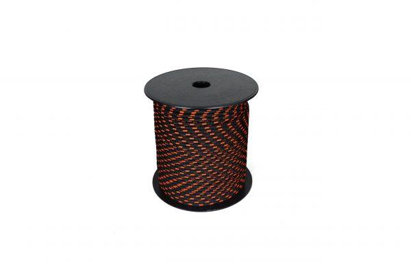 drisse pré etirée 5 mm noir rouge