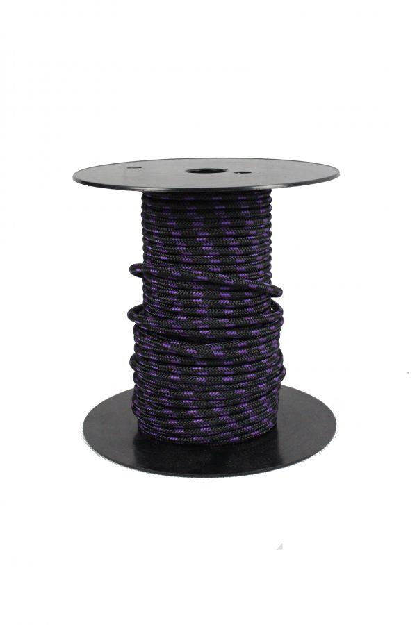 cordage drisse pré étirée 5 mm violet noir